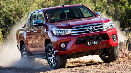 Toyota HiLux SR5 ute (2015 model shown). Picture: