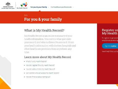 Every Australian will get an online My Health record.