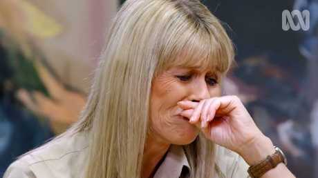 Terri became emotional as she recalled Steve's death. Picture: ABC
