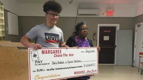 Barbara Reddick plans to sue her nephew Tyrone MacInnis following the lottery win. Picture: Facebook/Margaree Chase the Ace