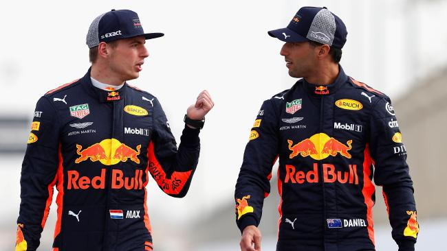 The strong pairing of Max Verstappen and Daniel Ricciardo is a blessing and a curse. Picture: Mark Thompson/Getty Images