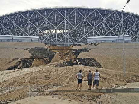 That's vastly different to how the area looked when the World Cup kicked off. Picture: AP Photo/Ilya Varlamov
