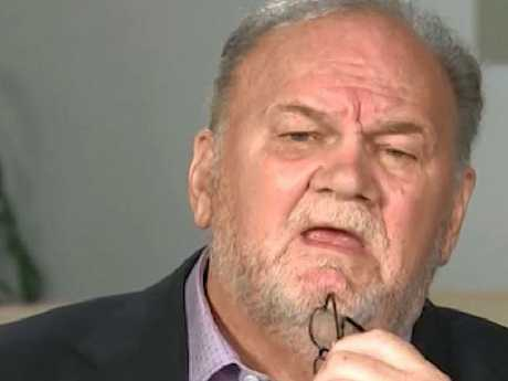 "Thomas Markle says he thinks Meghan is ""terrified"". gave his first interview since Meghan and Harry's wedding to IT's Good Morning Britain. Picture: ITV"