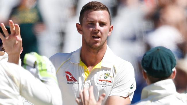 Fast bowler Josh Hazlewood. Picture: AFP