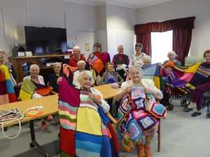 The knitting women from Dougherty Villa in