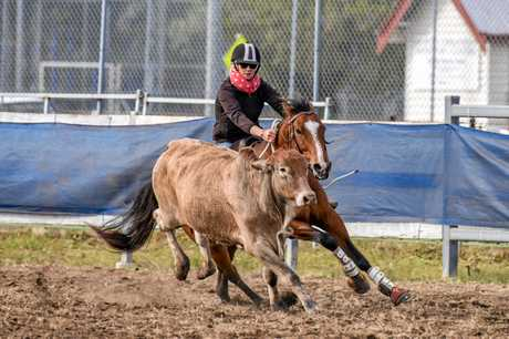 Aimee Olive at work in the arena on Can and Will.