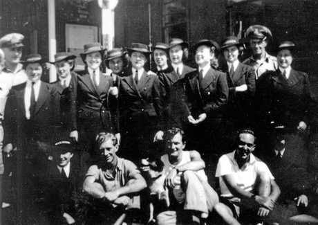 Ships Company, R.A.N. Station No. 1, Caloundra Head, 1945.