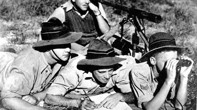 READY FOR ANYTHING: Artillery soldiers from the 13th Battery, 5th Field Brigade, undergo training at the Royal Australian Artillery camp, Battery Hill, in May 1940.
