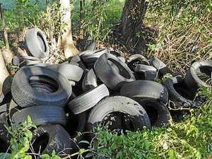 150 tyres dumped in suspected 'profit-making' scheme