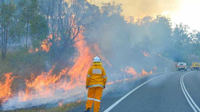 Boyne Valley fire still burning after seven days