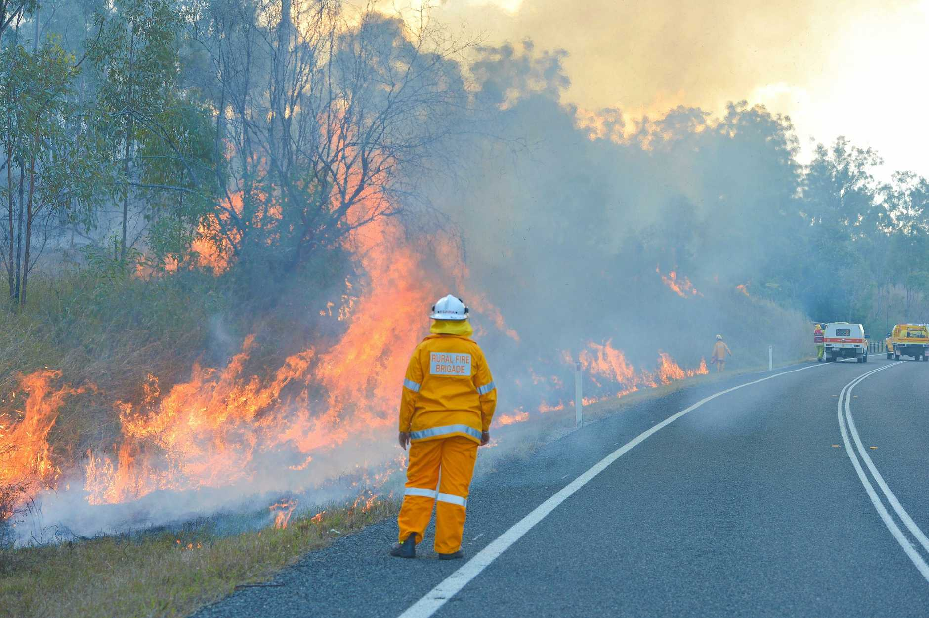 Fire in the Boyne Valley.