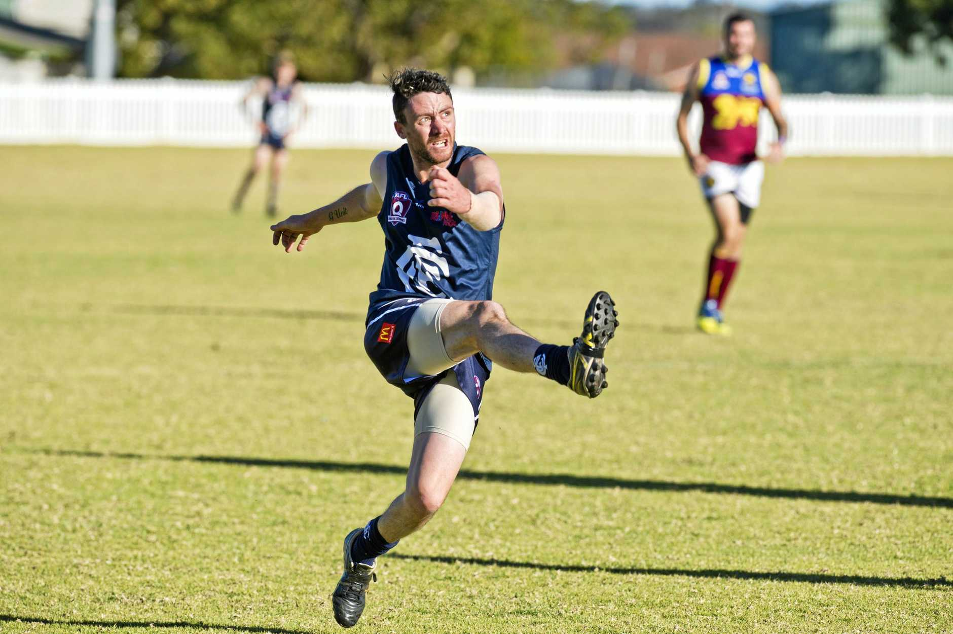 ON THE LINE: Rob Baker joined Coolaroo mid-season as the team looks to come away with a win in their huge clash with Goondiwindi today.