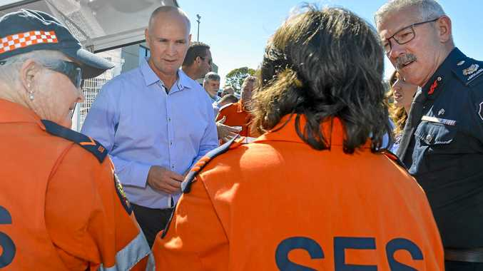 VITAL EQUIPMENT: Member for Gladstone Glenn Butcher at the handover of SES equipment and trailers at Gladstone's Yaralla Sports Club on July 19, 2018.