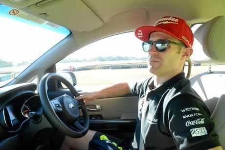 Supercar driver Will Davison at Queensland Raceway.