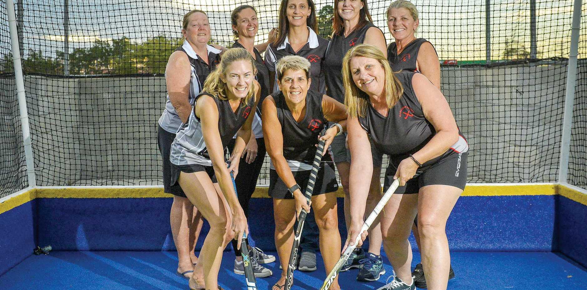 MADE GRADE: Gladstone Souths ' Deb Creighton, Kylie Blackmore, Joelene Smith, Caroline Pease, Carol Jones, Sue Rayner, Deb Dawes and Robyn Black are in Queensland Masters Teams.