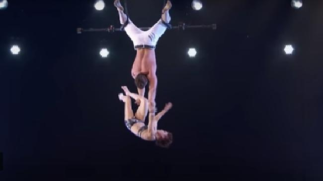TV trapeze stunt goes horribly wrong