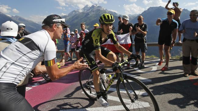 Spain's Mikel Nieve Iturralde rides breakaway during the 11th stage of the Tour de France. Picture: AP