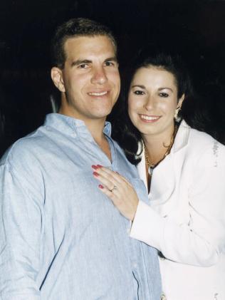 Matthew Perrin and ex Nicole Bricknell.