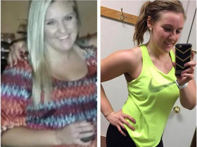 Courtney weight 97kg at her heaviest, but has since changed the way she eats.