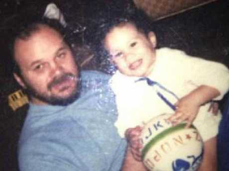 Meghan Markle with her father Thomas when she was a child. Picture: Instagram