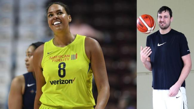 Have Liz Cambage and Andrew Bogut buried the hatchet?
