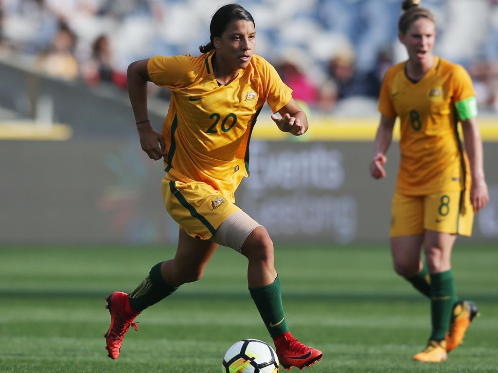Kerr continues to lead the Matildas from upfront. Pic: Getty Images