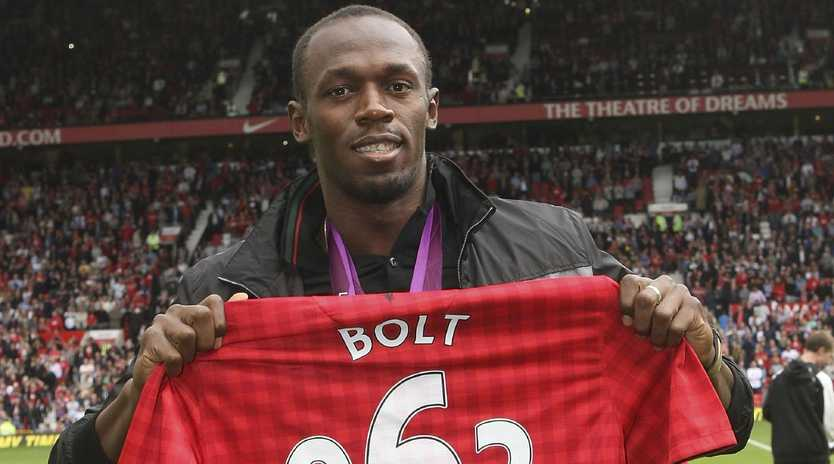 Usain Bolt is serious about his football dreams. Picture: Getty Images