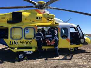 Man airlifted after struck in head by metal at workplace