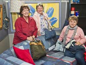 Vinnies volunteers design, create amazing denim couch