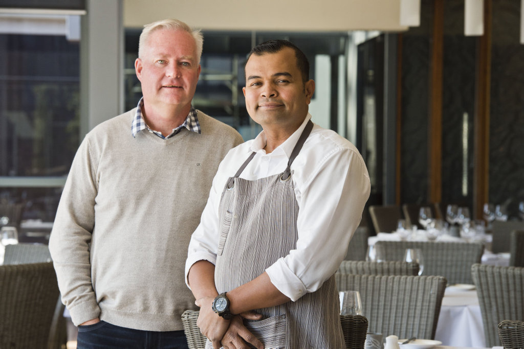 Mark Rawlings and his Encore's restaurant manager Alex Ibrahim. Thursday, 19th Jul, 2018.