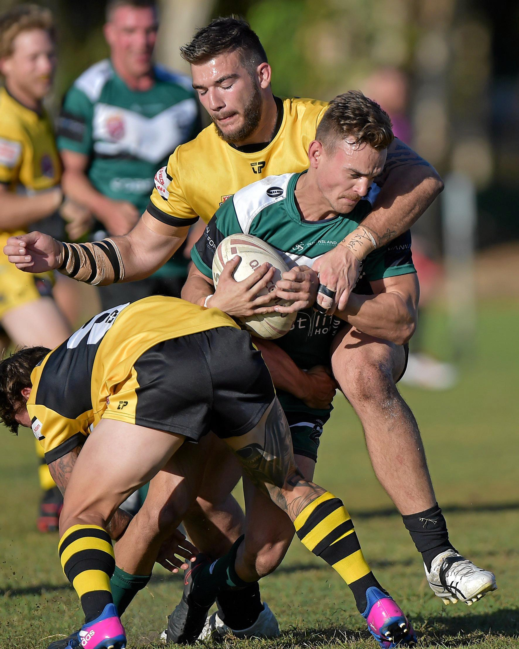Caloundra against Maroochydore rugby league match.Maroochydore fullback Brad Kent.