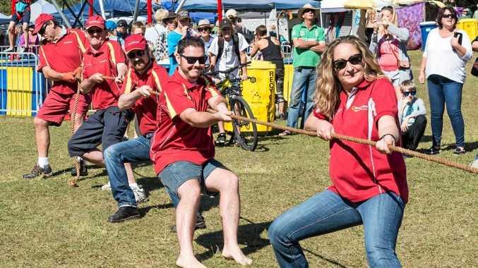ROPE CHALLENGE: Bendigo Bank tug-o-war action from a previous festival.