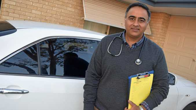 ADDRESSING A NEED: Dr GB Singh has begun offering a bulk-billed home doctor service in Biloela on his own time.