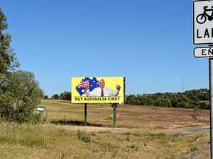 Palmer party billboards spring up in Fraser Coast