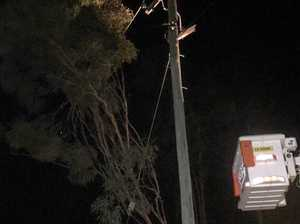 The silly reason 850 homes lost power near Gympie last night