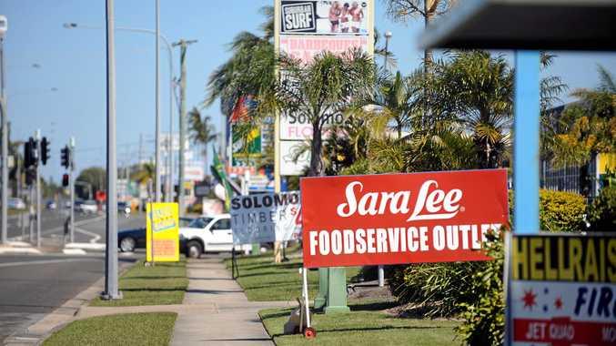 Advertising signs on the side of the road at Nicklin Way, Kawana.Photo:Warren Lynam / Sunshine Coast Daily