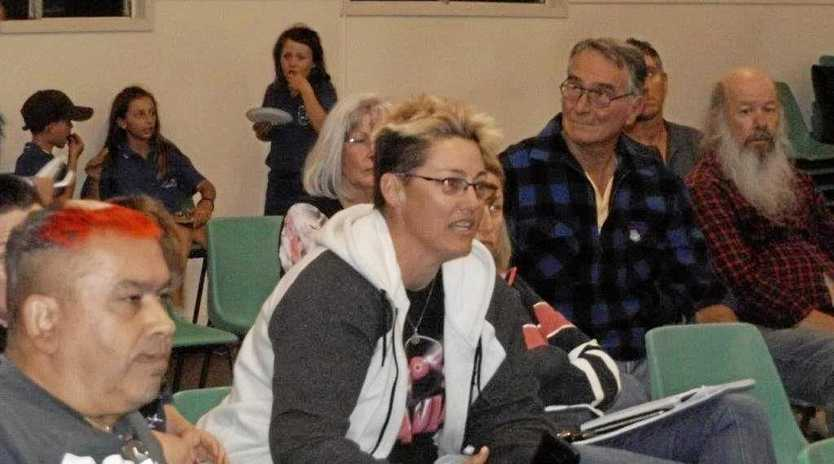 Jo Coleman from from St Lawrence at the CQ Coal Project public meeting on Thursday night.