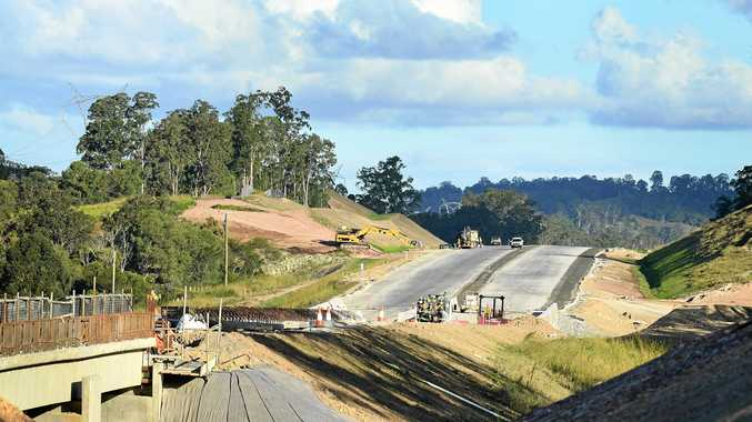 Gympie Woondum Rd view of the new highway Section C road works.