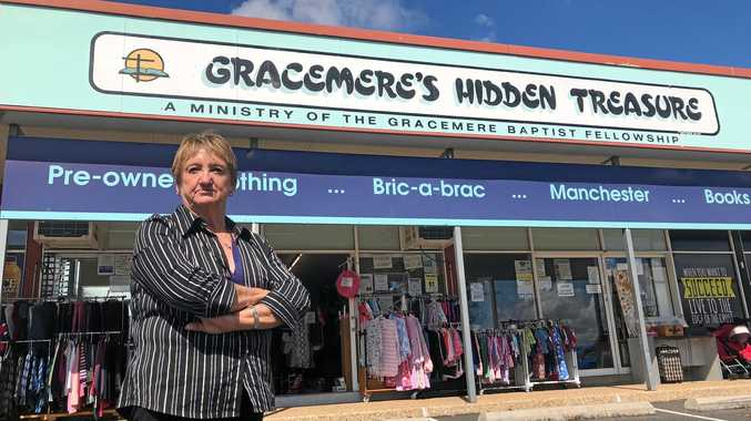 VICTIM BUSINESS: Gracemere Hidden Treasure's Tuesday coordinator Helen Scales was called while she was at church on Sunday May 6 about the break and enter of the charity shop.