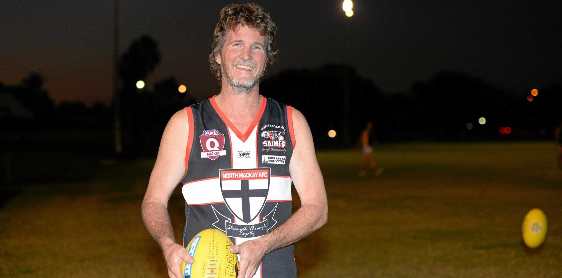 North Mackay Saints' legend Chris Dunbar will etch his name further into history when he plays his 500th game today.