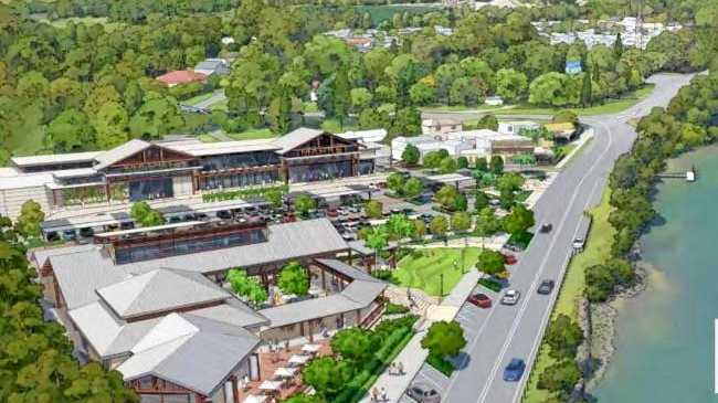 FUTURE VISION: An artist's impression of the Chinderah Village development.