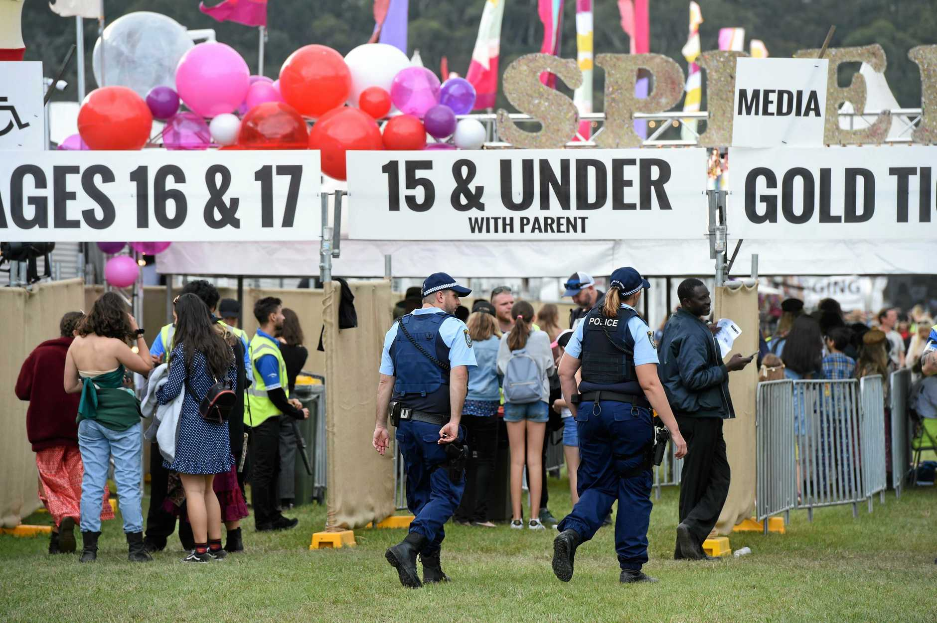 Police and Splendour in the Grass 2018.