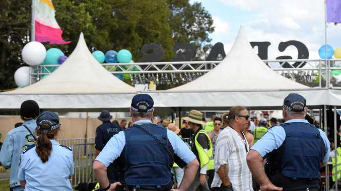 Police at Splendour in the Grass 2018.