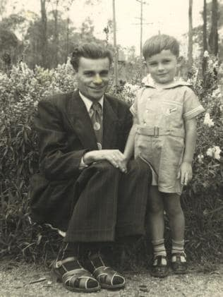 Hipolit Palaszczuk with his son Henry.