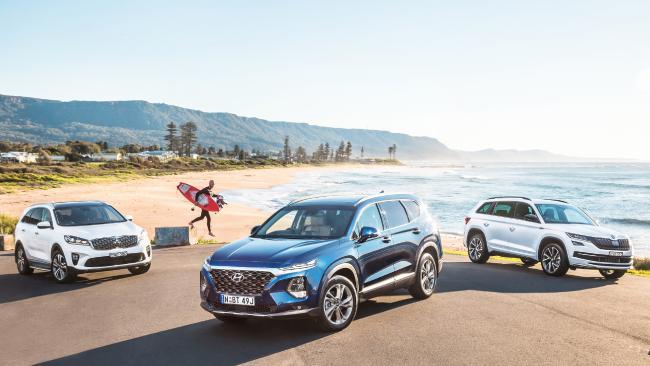 Kia Sorento, Hyundai Santa Fe and Skoda Kodiaq