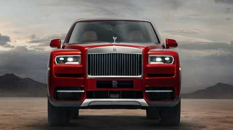 Broad shouldered: The Cullinan continues Rolls-Royce's square-jawed design.