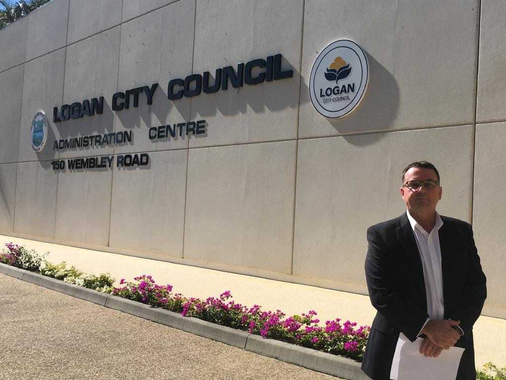 Suspended Logan mayor Luke Smith.
