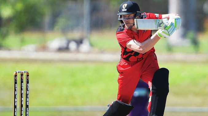 Cameron Bancroft in action for the Desert Blaze. Picture: Patrina Malone