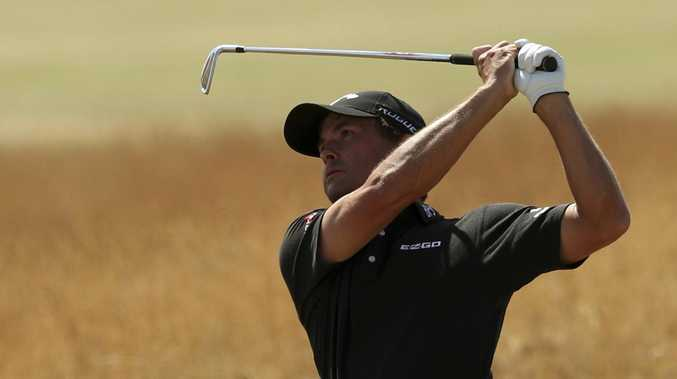 Kevin Kisner is the early leader on a beautiful day at Carnoustie. Picture: AP