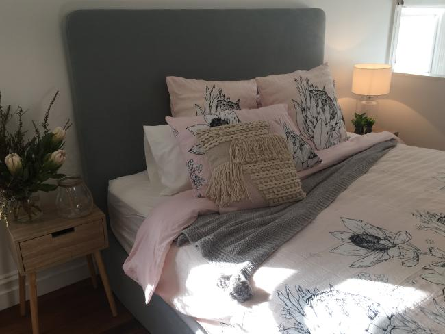 The stella cotton seersucker quilt cover set ($49) features a unique Australian floral design.